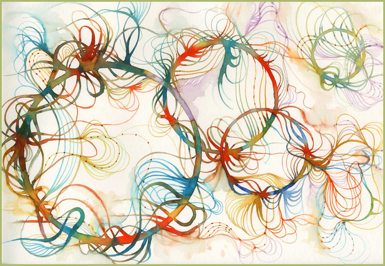 """""""Floating Colors"""" print n1 A3 Format"""