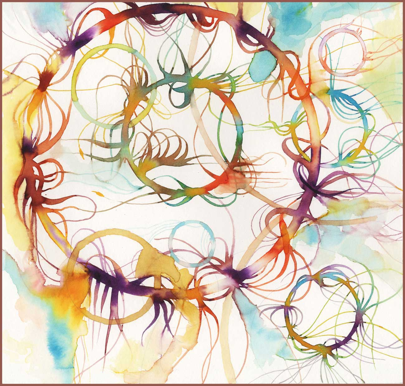 """""""Floating Colors"""" print n4 A3 Format"""