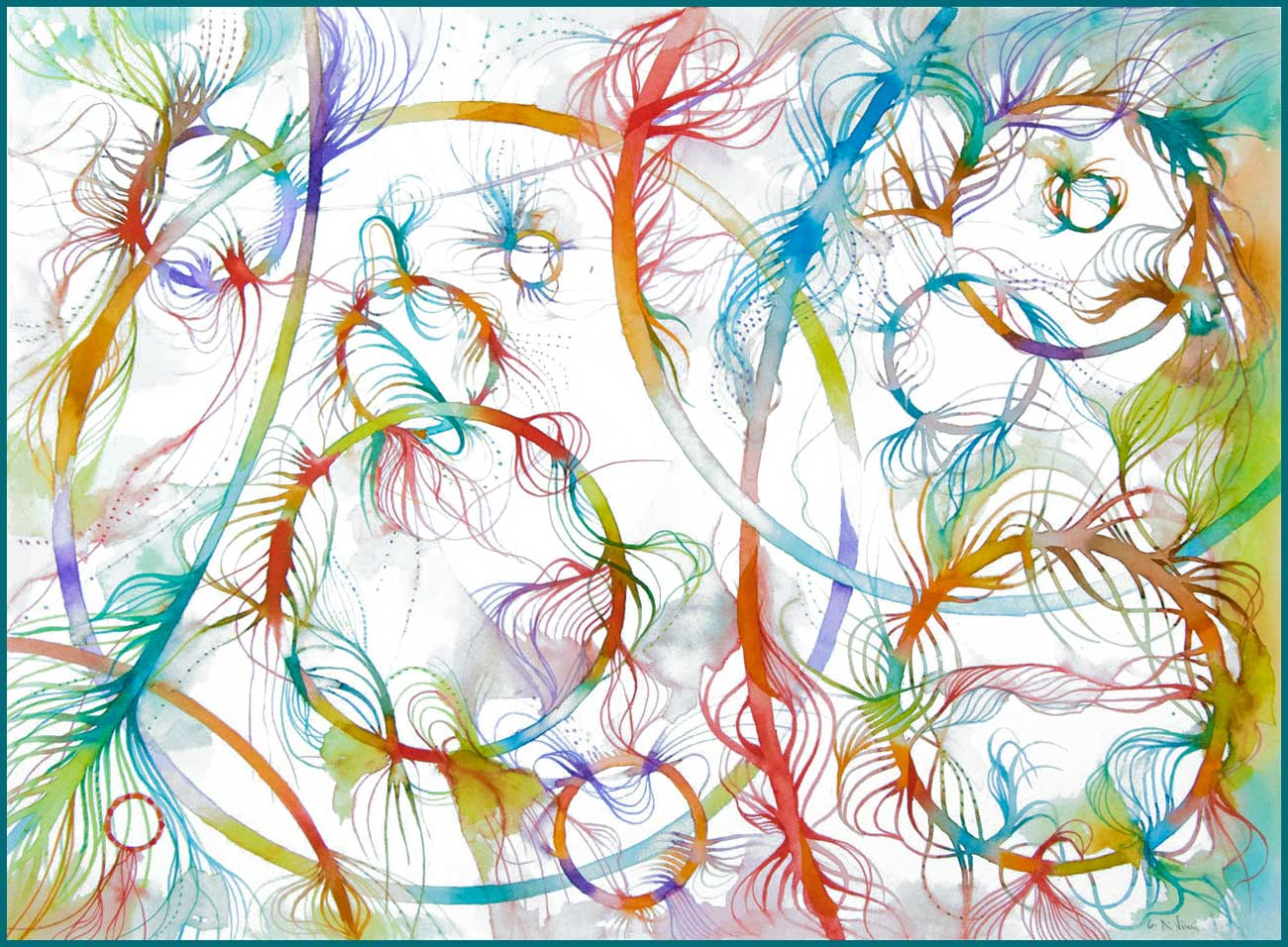 """""""Floating Colors"""" print n3 A3 Format"""