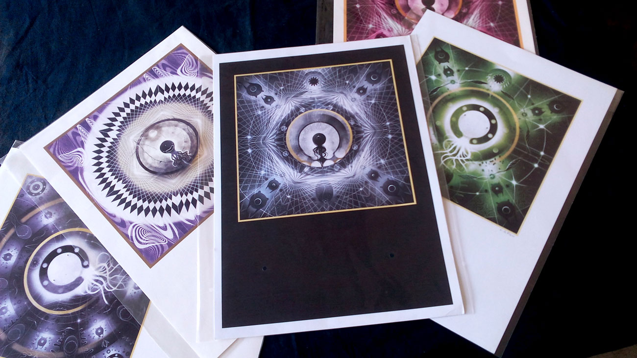 """prints """" Cosmic Pulps"""" series A3 Format"""