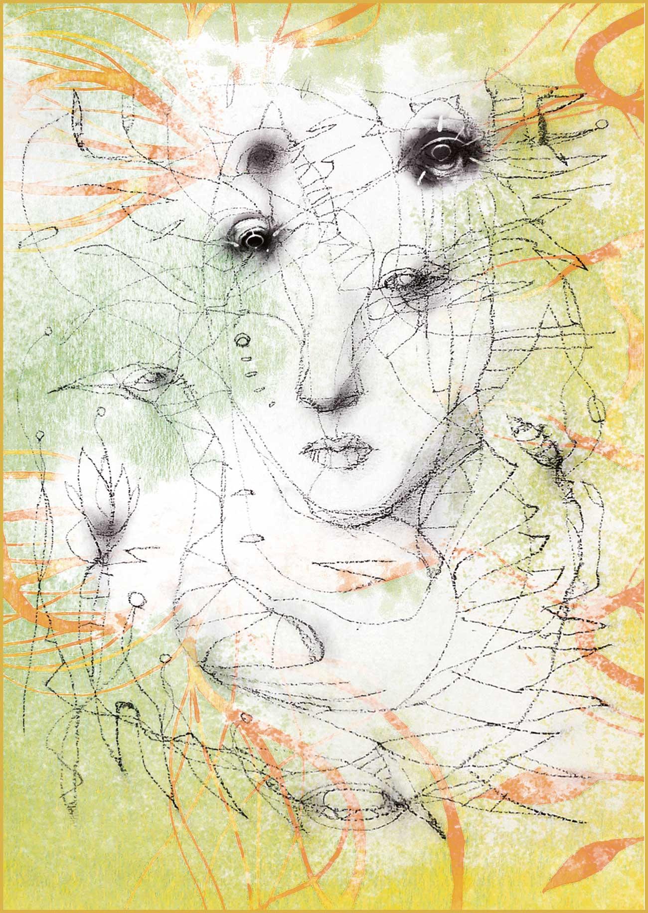 """ Spleen du printemps"" series print N4"
