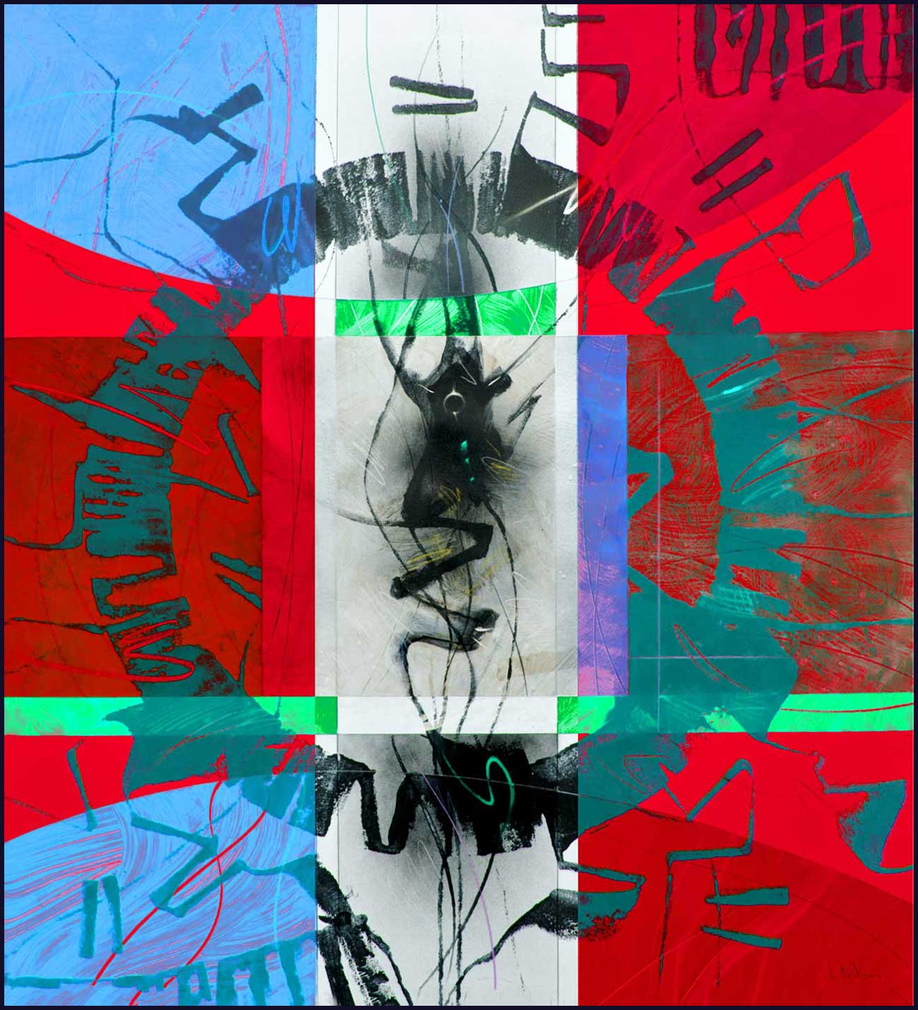 """Circular thinking"" series A3 Format Print N.2"