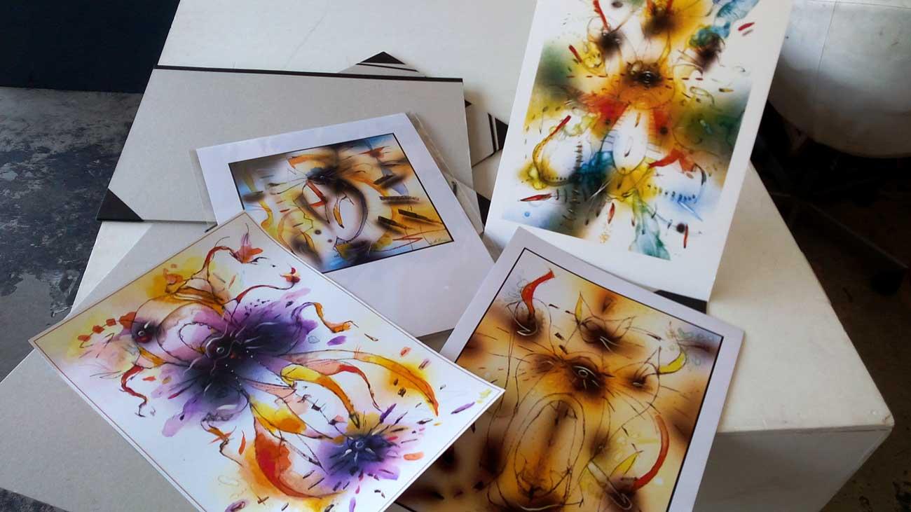 """Prints """"Riflessioni Siderali"""" series A3 Format"""