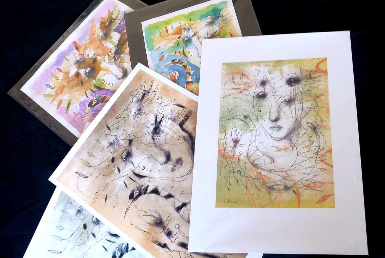 """prints """" Spleen du printemps"""" series"""