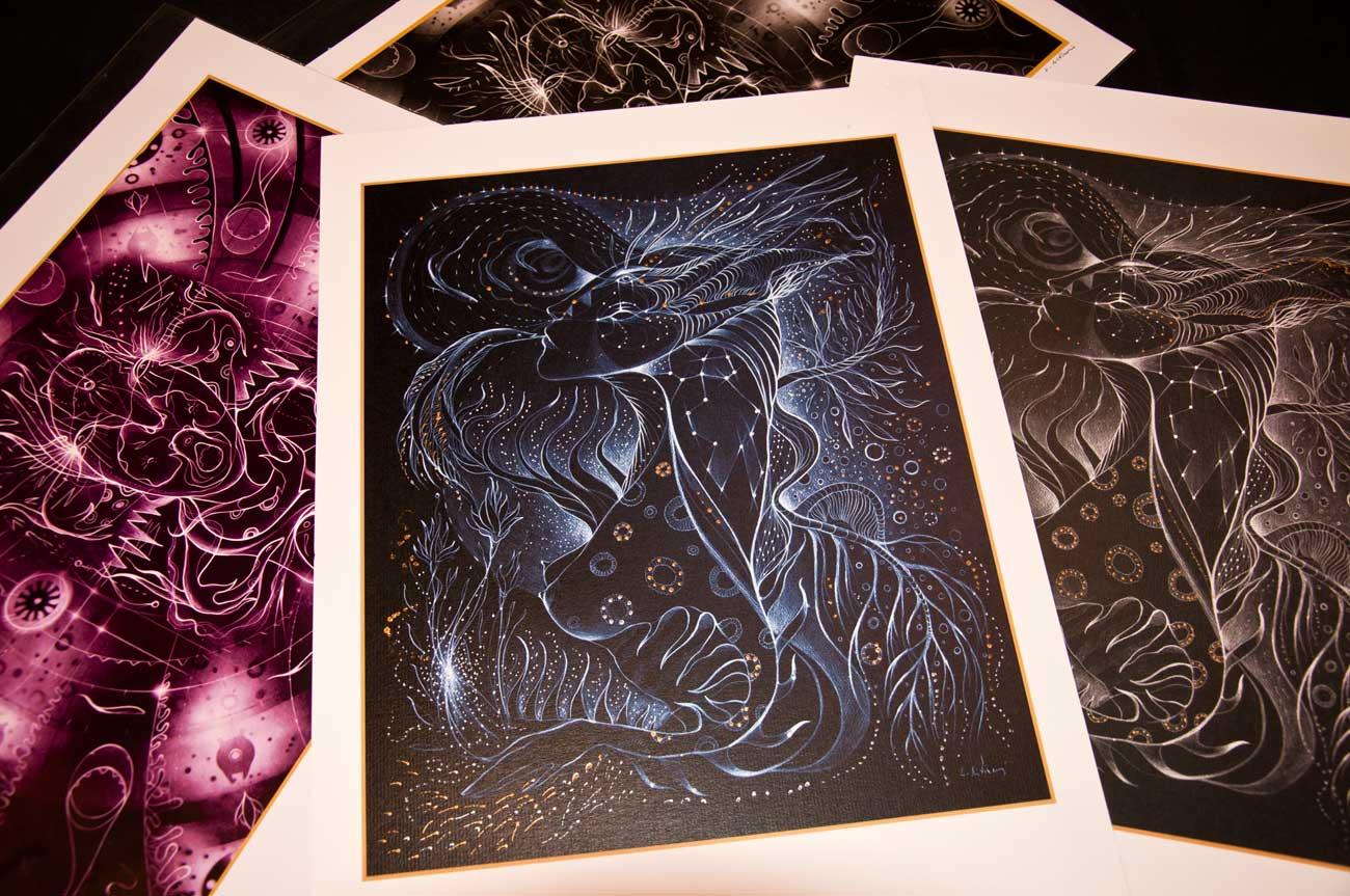 "prints ""Black Lights"" series"