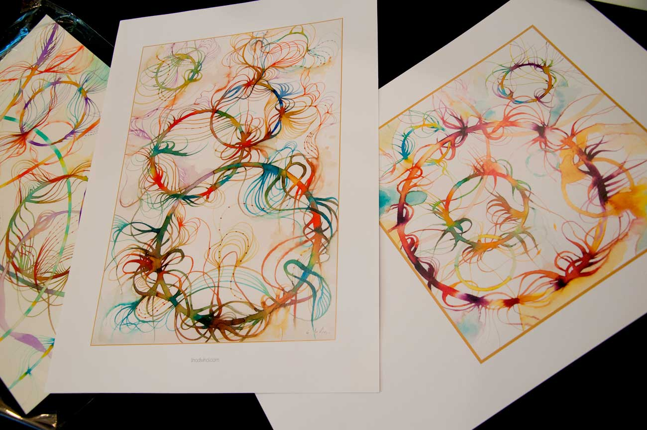 "prints ""Floating colors"" serie"