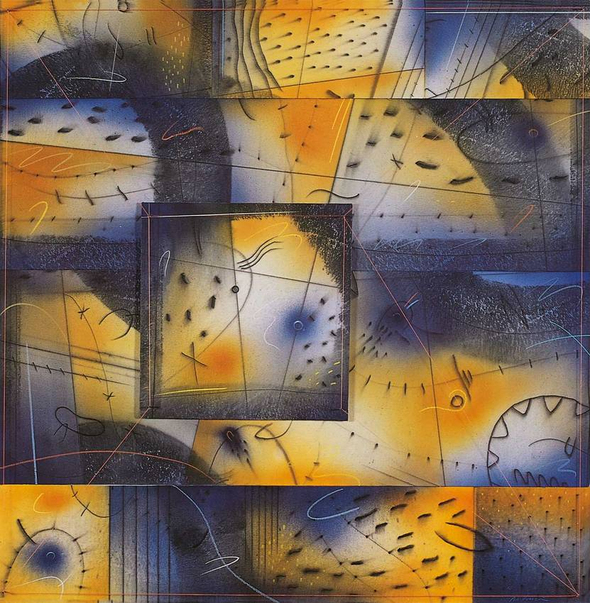 """""""kaleidoscopicamente"""" acrilyc on canvas cm70 x cm70 1997 private collection"""