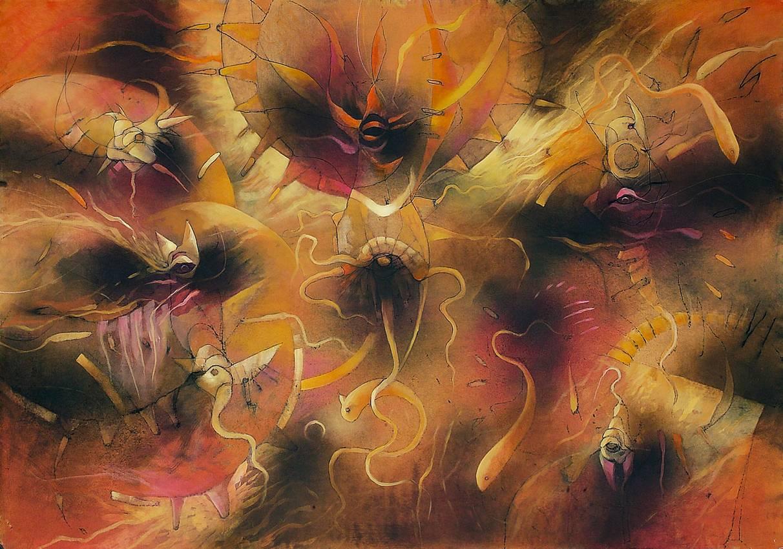 """""""Underwater Dreams"""" olio su tela cm100 x cm150 2006"""