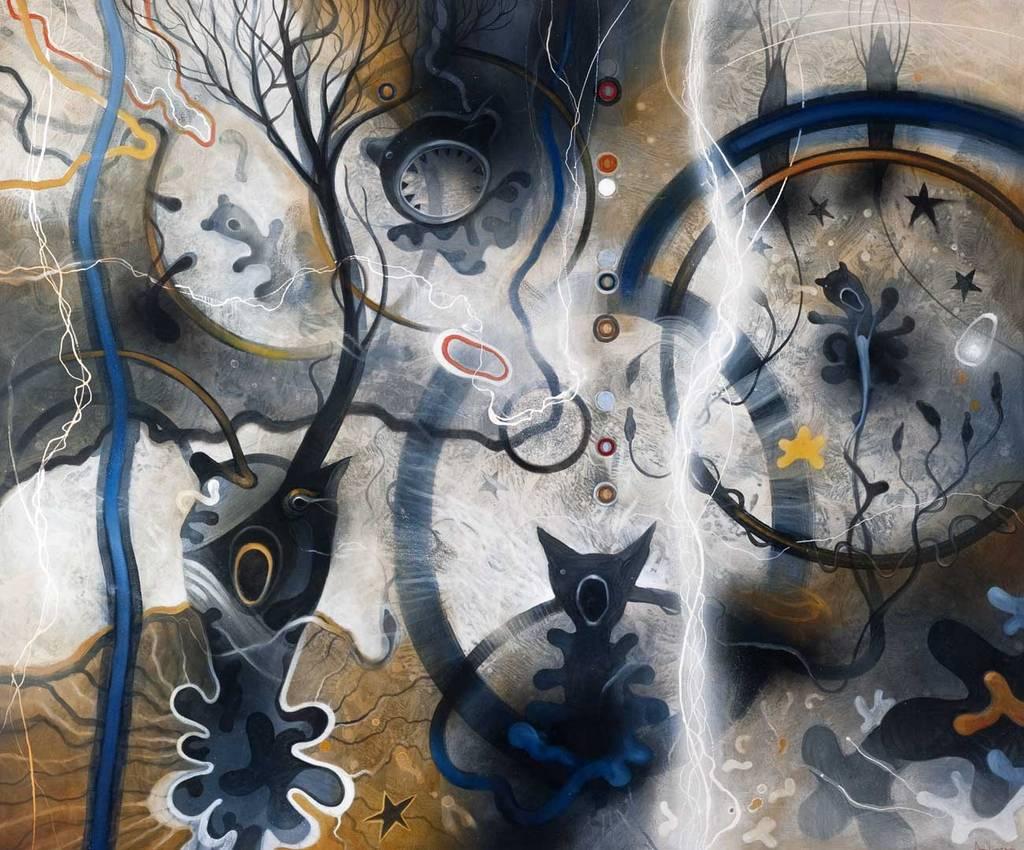 """""""Insomnia"""" olio su tela cm100 x cm120 2010"""