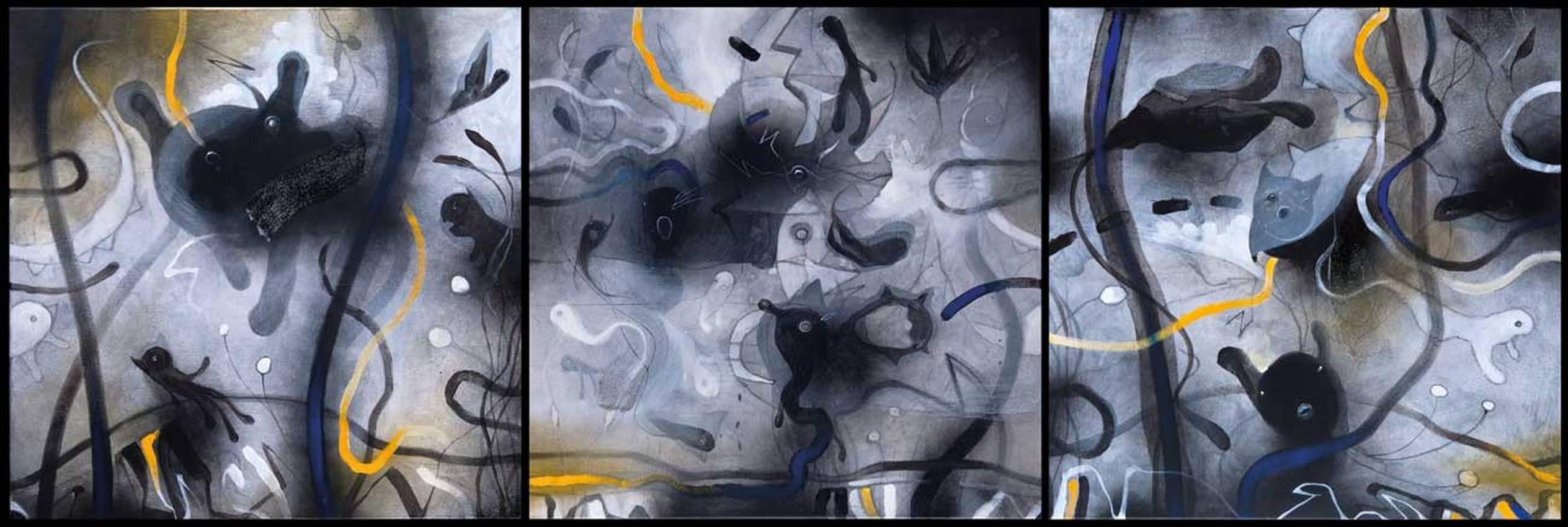 """""""Anywhere"""" acrilico su tela cm50 x cm150 collezione privata Genova 2011"""