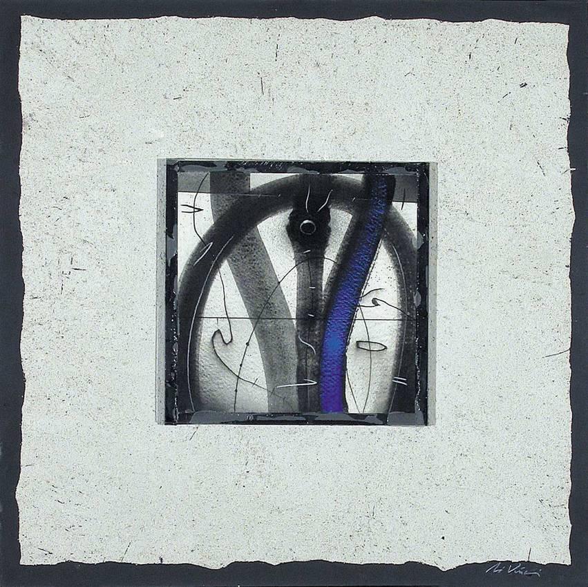 """""""In qualche luogo"""" Mixed media cm50 x cm50 Collezione privata 2005 Savona"""