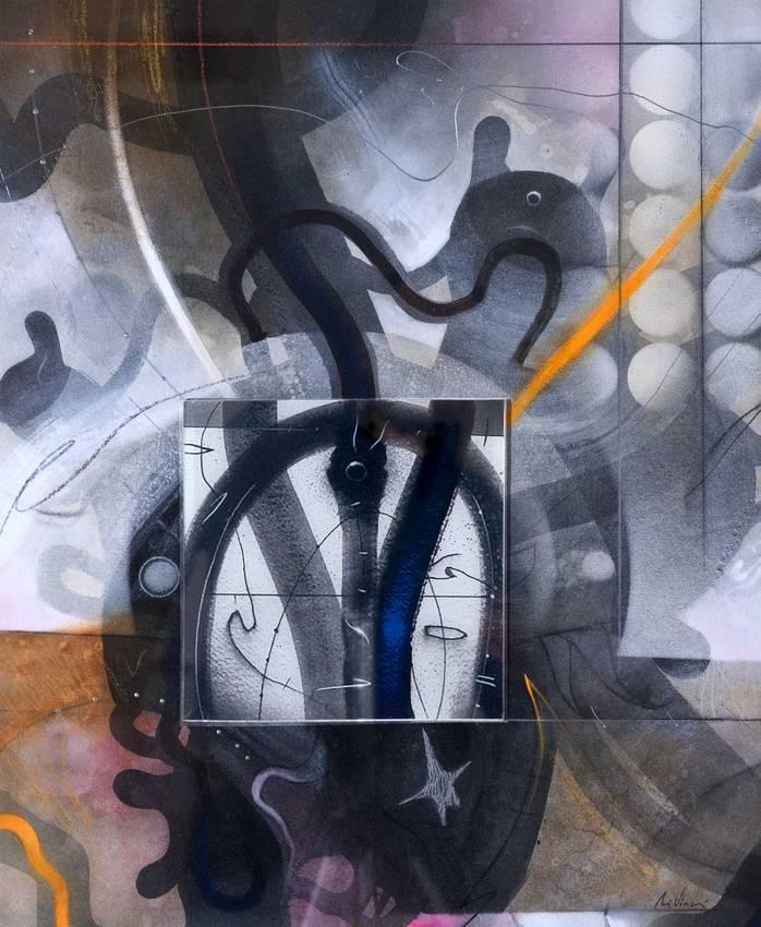 """""""Bianchi silenzi"""" acrilico su tela cm60 x cm50 2013 Collezione privata Genova"""