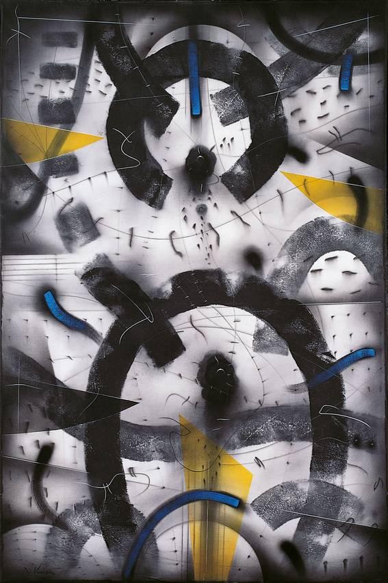 """""""sotto la pelle del silenzio"""" acrilyc on canvas cm150 x cm100 1997 private collection"""