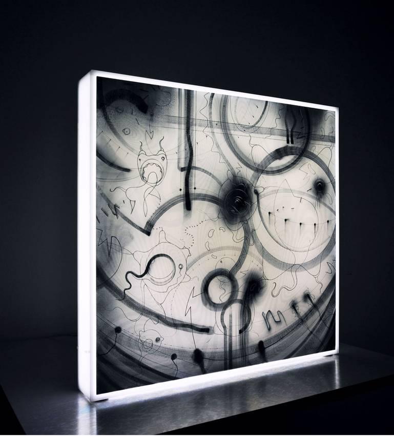 """Chromophobia"" Light box cm50 x cm50 x cm12 2012"