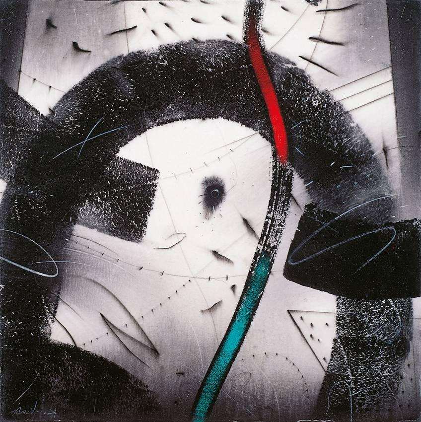 """vertigine inquieta"" acrilyc on canvas cm50 x cm50 1998 private collection"