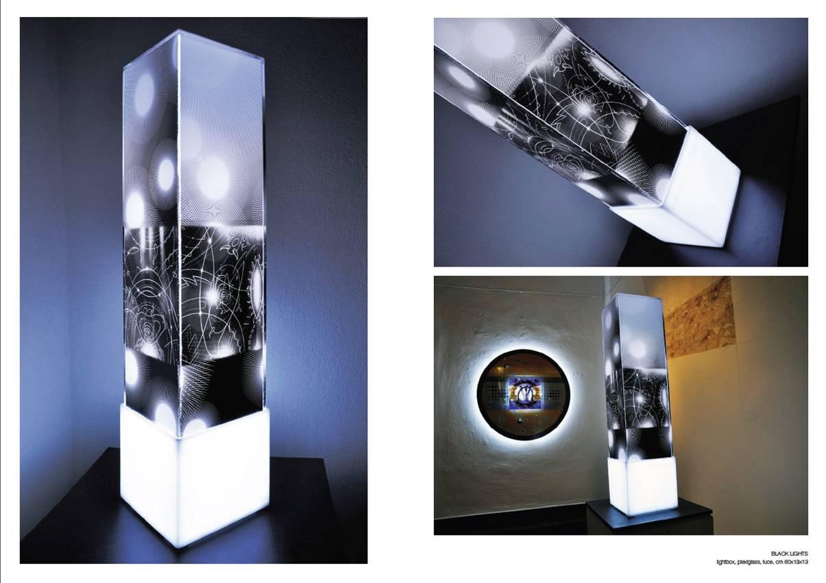 "Totem Serie ""Black lights"" -plexiglass- cm60 cm13 x cm13"
