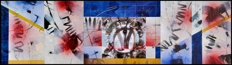 """No Gravity"" acrilyc on cardboard cm160 x cm60 Private collection Genova"