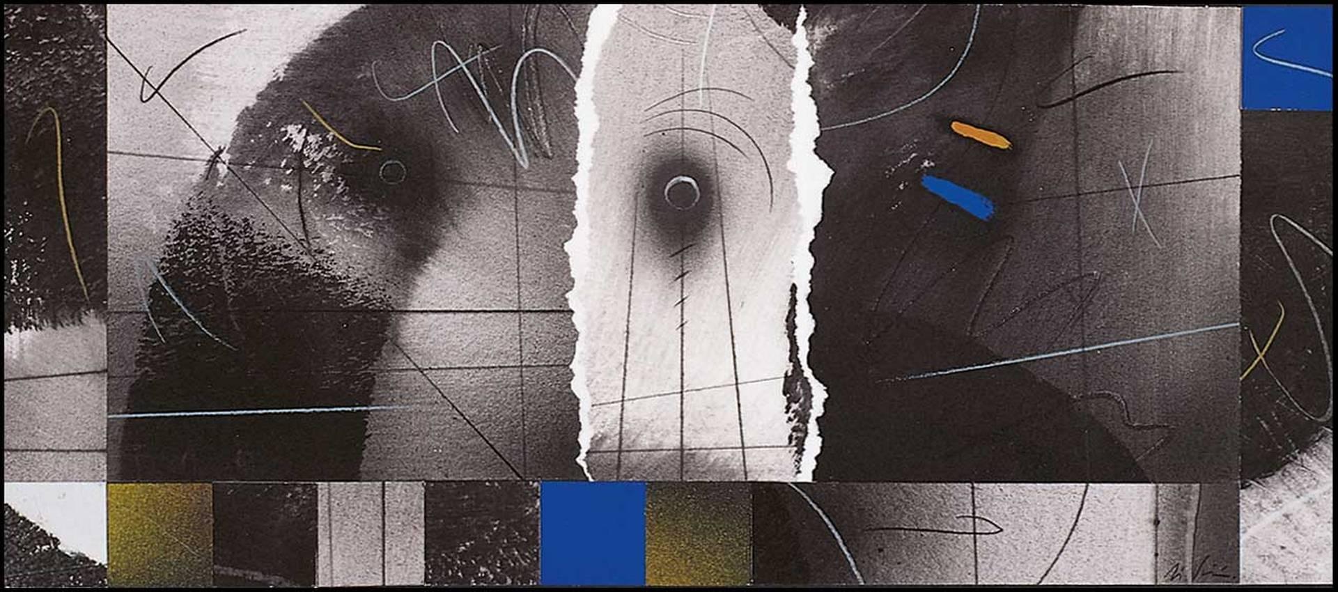 """""""prospettive incerte"""" collage cm30 x cm50 collezione privata 1996"""