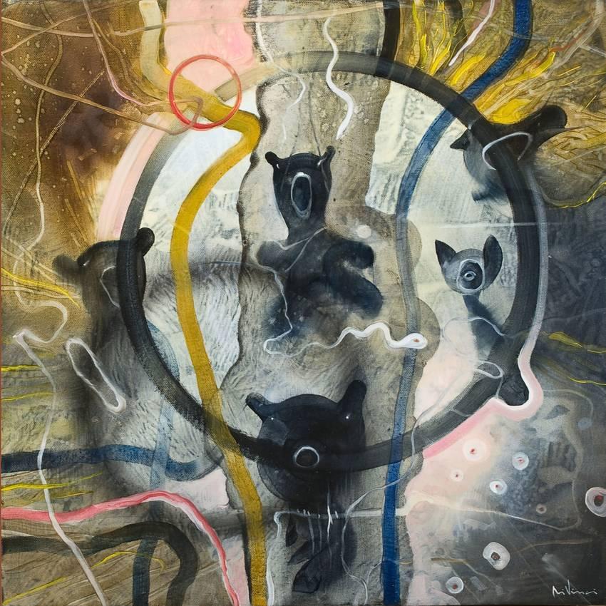 """Insomnia"" olio su tela cm50 x cm50 Collezione privata Parigi 2010"