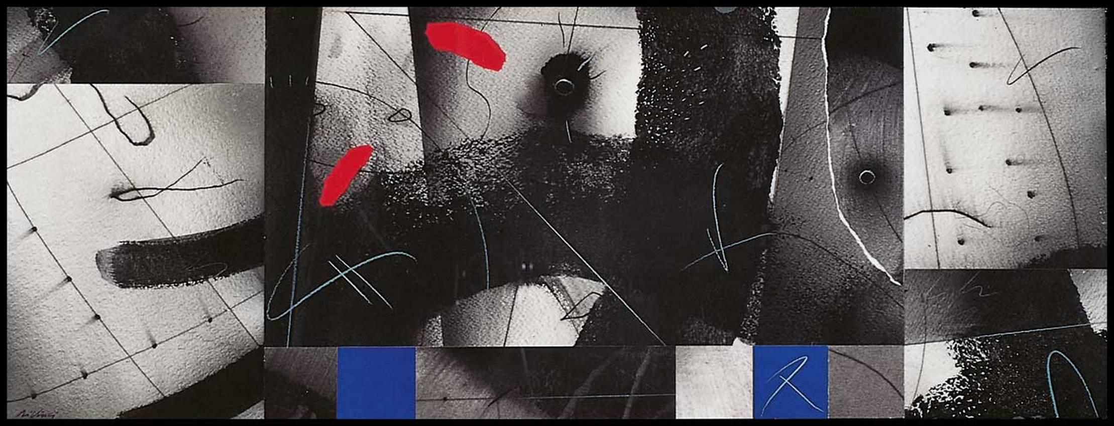 """""""dove?"""" collage cm50 x cm100 collezione privata 1998"""