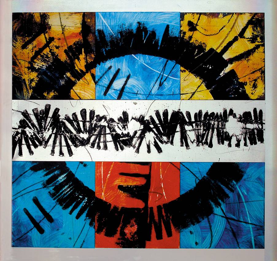 """""""metalchrome n1"""" acrilyc on metal cm76 x cm83 collezione privata 2001"""