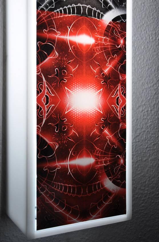 """""""Nightfly"""" neon lights on plexiglas cm130 x cm13 x cm13 2011"""