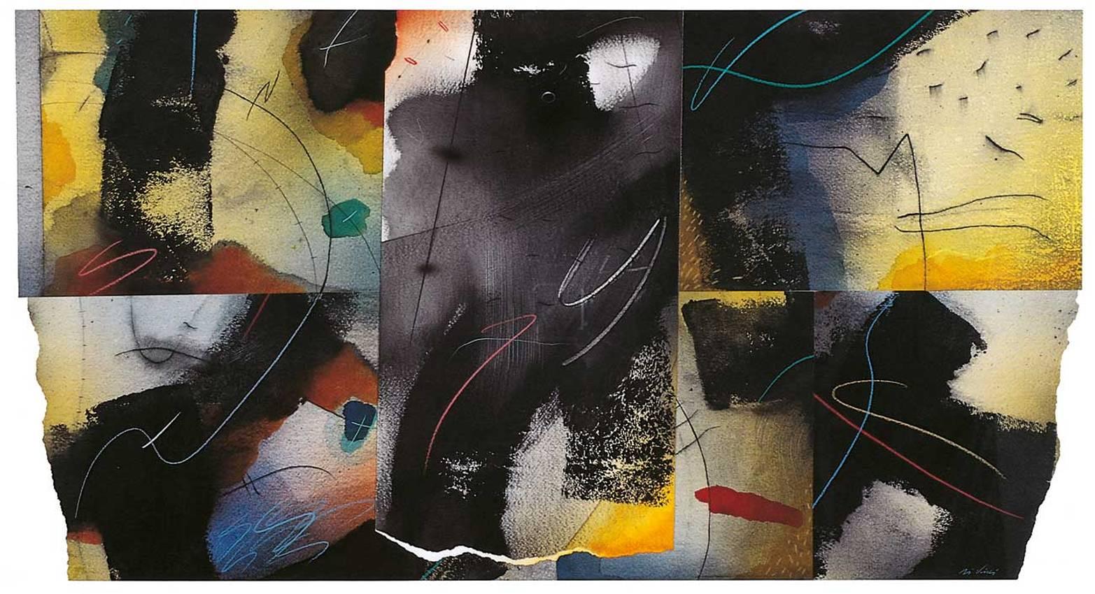 """""""lontano,nel tempo"""" collage cm70 x cm100 collezione privata 1998"""