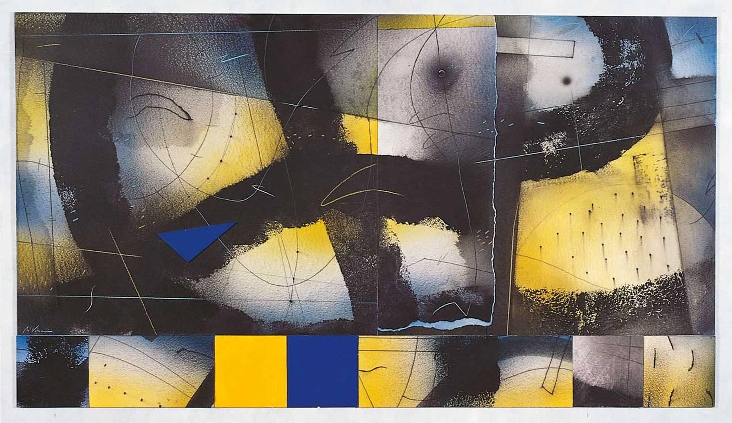 """""""persi nell'infinito"""" collage cm50 x cm100 collezione privata 1998"""