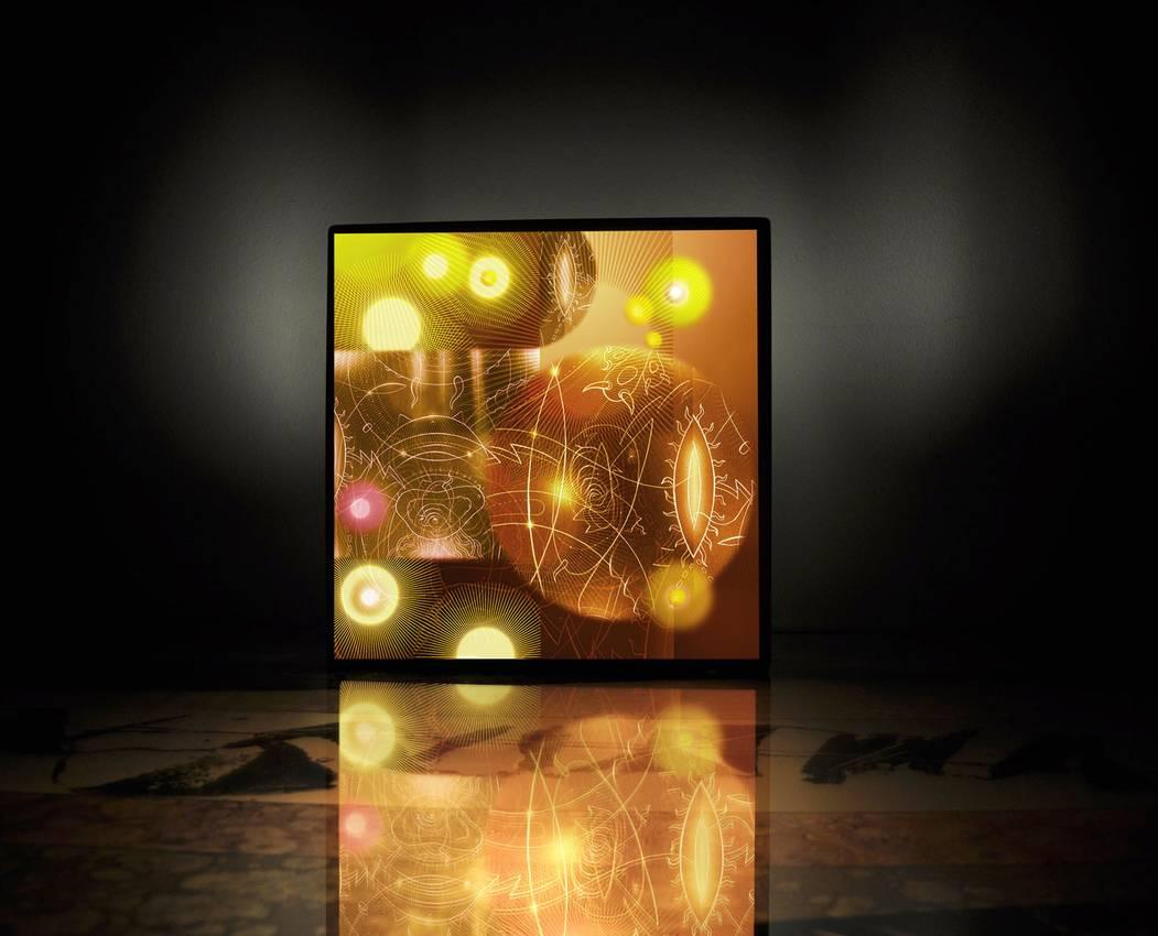 "Light box series ""the Invaders"" cm40 x cm40 x cm10 neon lights 2010"