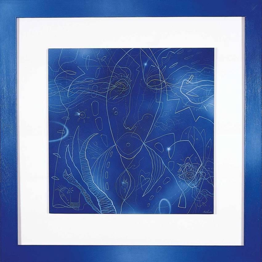 """""""Qualcuno"""" acrilyc on pvc cm50 x cm50 1998"""
