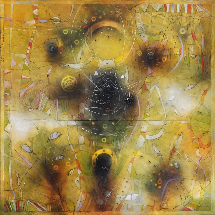 """""""Secret garden"""" olio su tela cm100 x cm100 Collezione privata Bergamo 2014"""