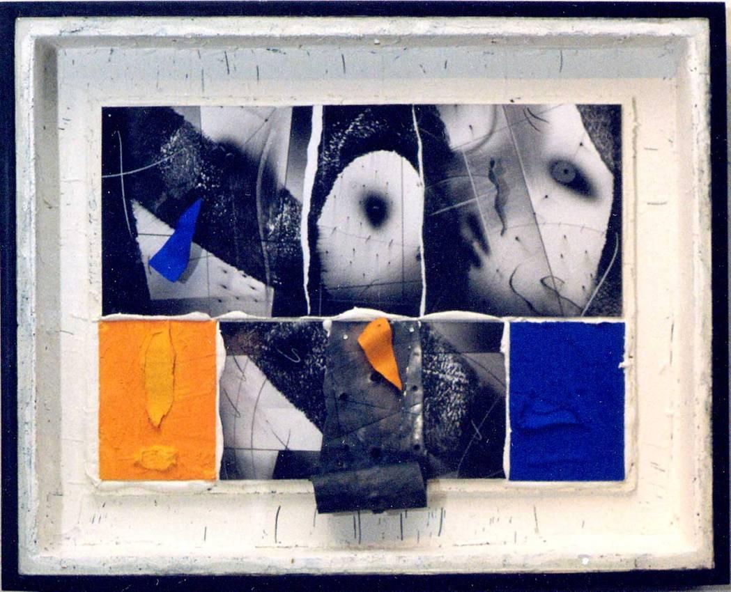 """""""rarefazione"""" mixed media cm60 x cm80 2000 private collection"""