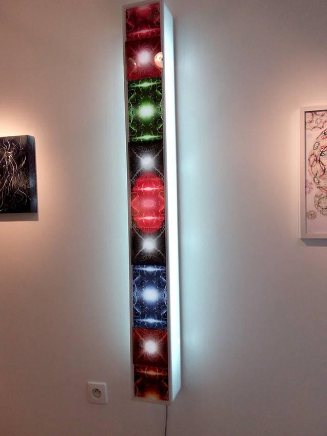 "Solo exhibition ""univers suspendus"" Paris 2017"
