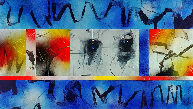 """""""metalchrome"""" acrilyc on cardboard cm50 x cm100 collezione privata 2002"""