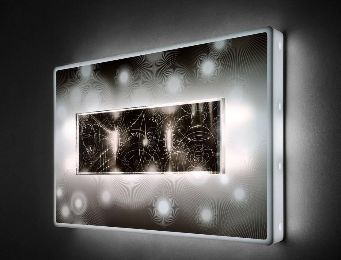 """Black lights"" cm96xcm76xcm10 neon lights plexiglass 2010"