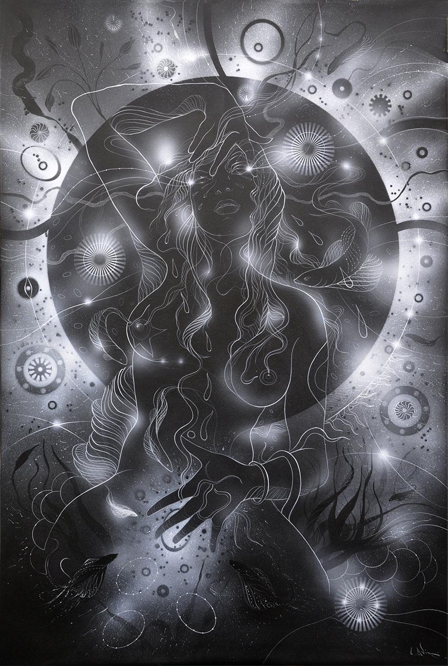 Black Venus Print on paper A3 size