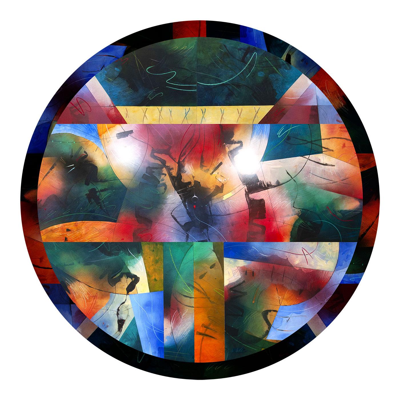 kaleidoscopie-diam-cm90-printed-on-plexiglas- 2020 Private collection