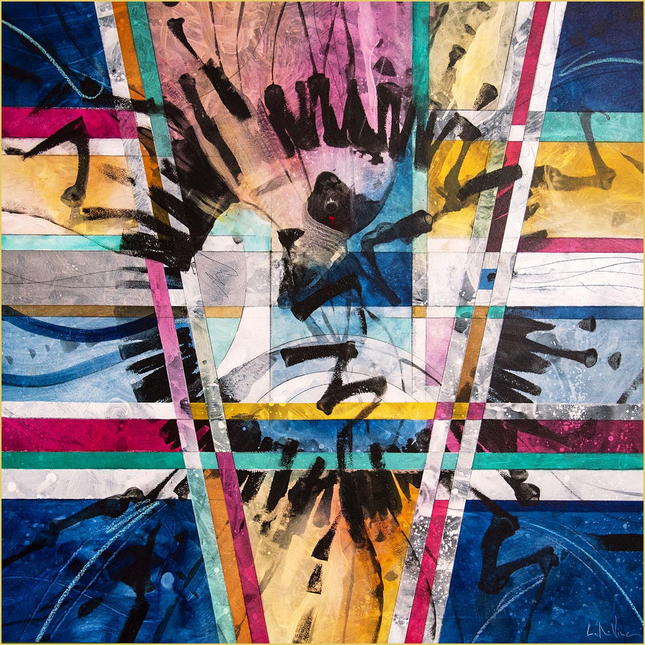 Orizzonti Paralleli Acrilyc on canvas cm100 x cm100 2020