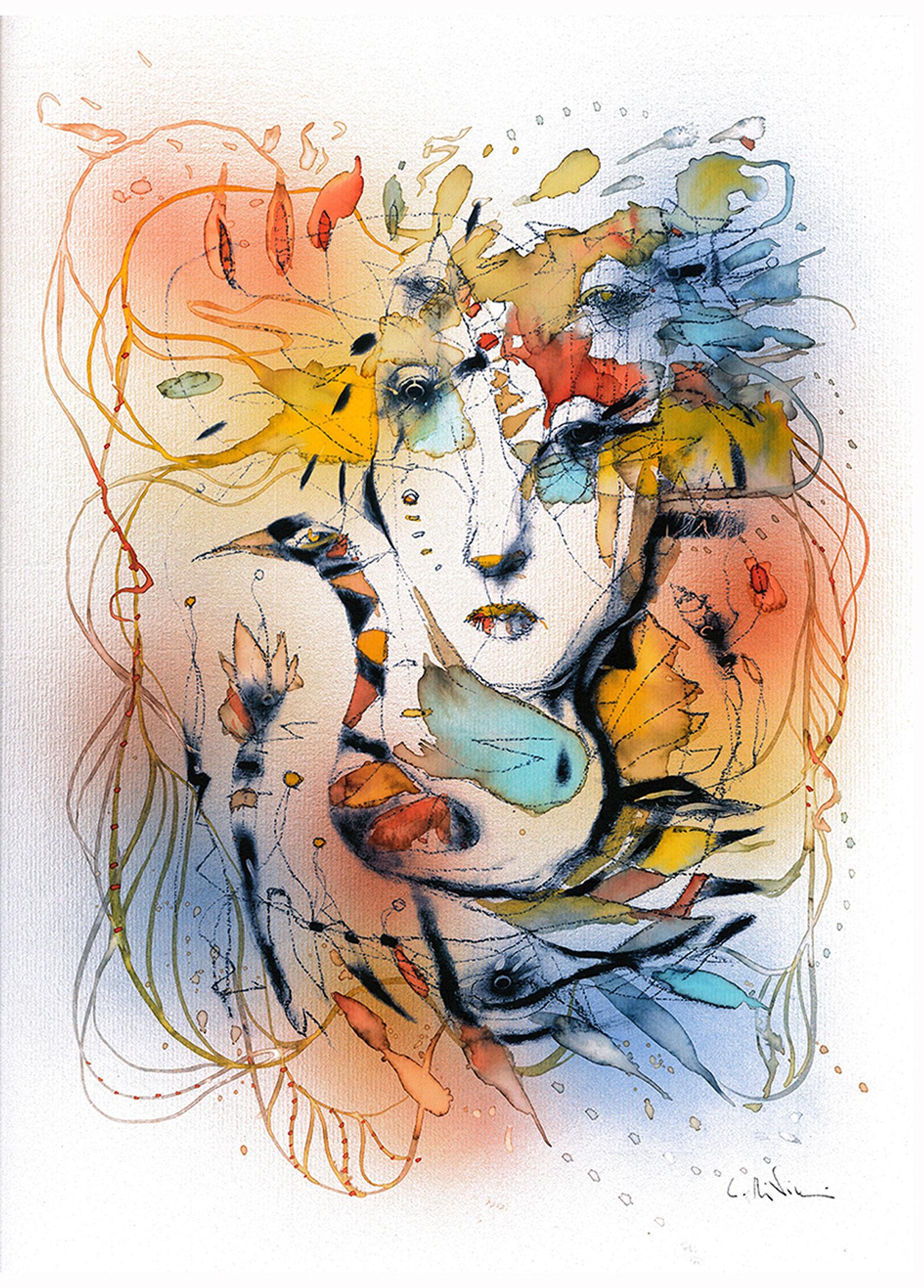 """Print """"Spleen du printemps""""watercolor A3 size"""
